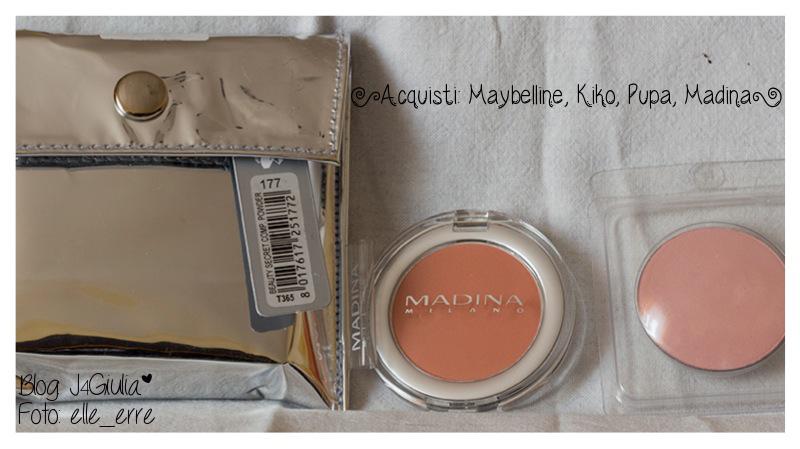 Acquisti: #9 Maybelline, Kiko, Pupa, Madina