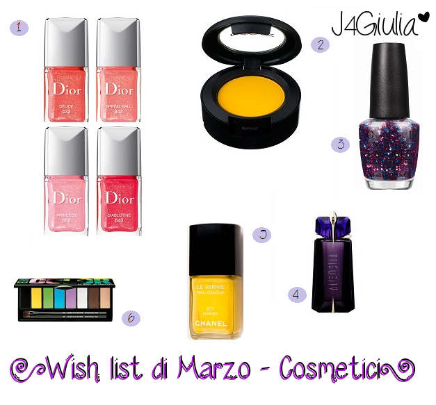 Wish list: #2 Marzo - Cosmetici