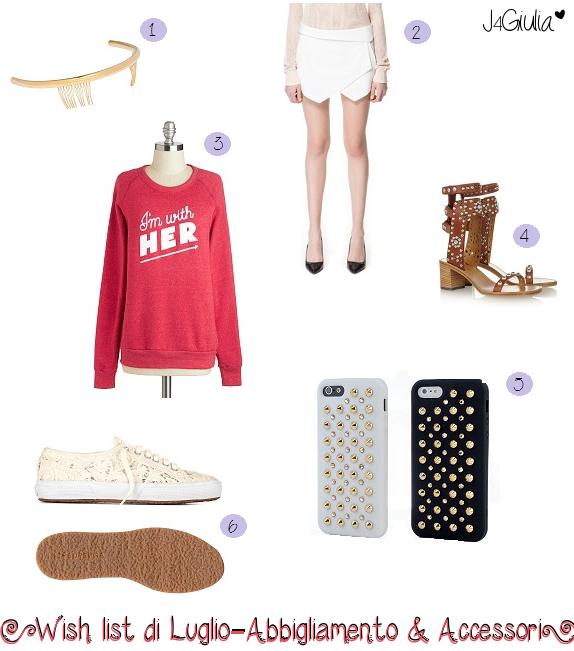 Wish list: #4 Luglio – Abbigliamento & Accessori