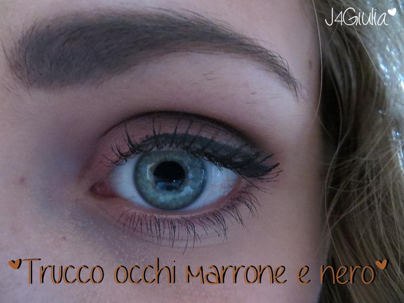 Make-up: #1 Trucco occhi marrone e nero