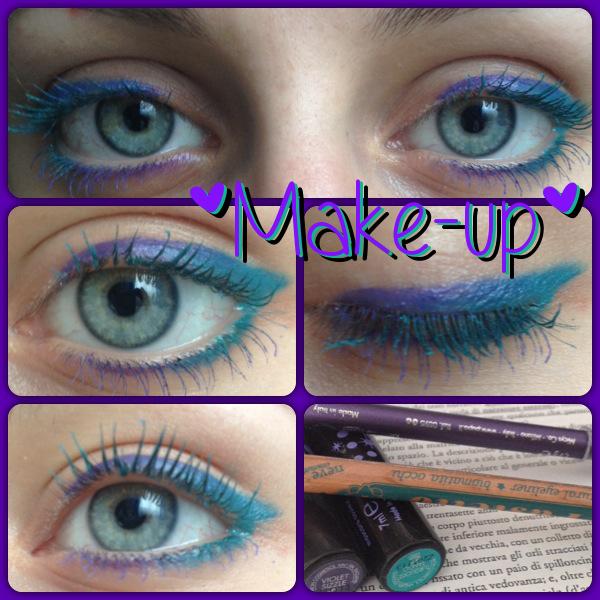 Make-up: #2 Trucco occhi turchese e viola